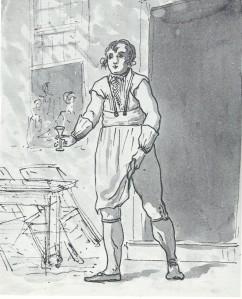 In zijn tijd zeer geliefd bij de bezoekers van 't Heerenlogement van hospes J. van den Berg. Op 7 juni 1803 schetste de kunstenaar Christiaan Andriessen de herbergier voor zijn etablissement.