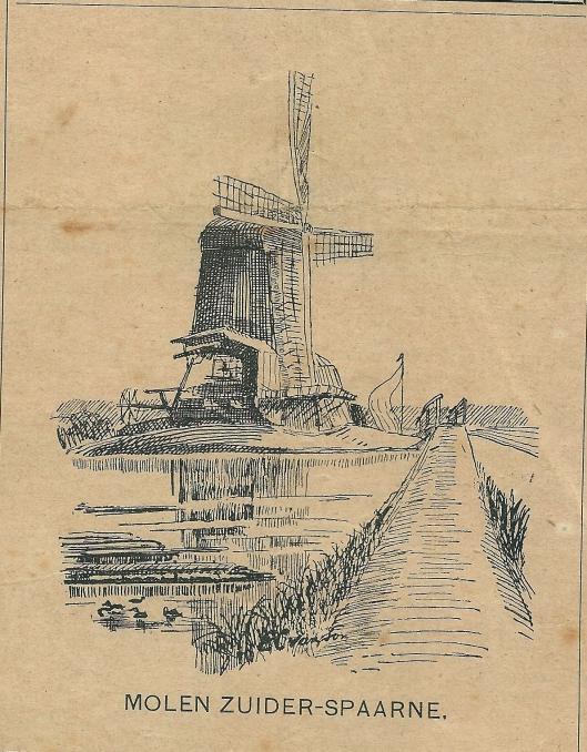 Molen Zuider Spaarne. Zondagsblad, 22 februari 1904.