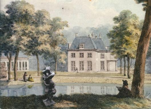 Oosterduin op een ingekleurde prent van Hendrik Numan uit 1794