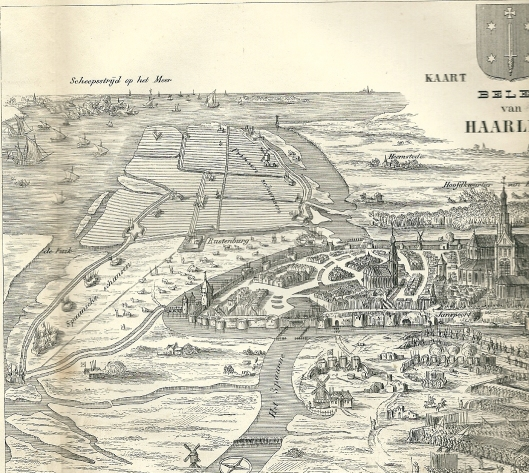 Kaart van T.W.M.Trap naar C.Decker jr. en oorspronkelijk P.Saenredam uit 1626.