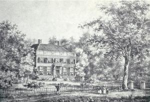 Steendruk van Meer en Bosch circa 1842 door P.J.Lutgers