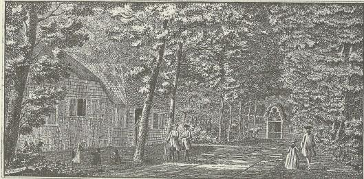 'Gezigt in den Haarlemmerhout na de buitenplaats genaamt Spruitenbosch' Gravure door Hendrik Spilman, 1763