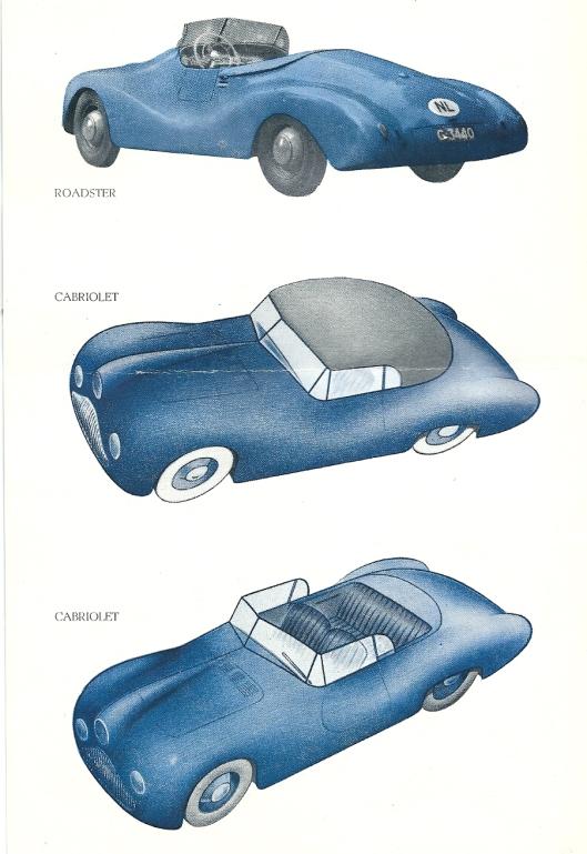 Afbeeldingen van de 'Roadster' en 'Cabriolet'open en dicht van Gatso type '4000'.