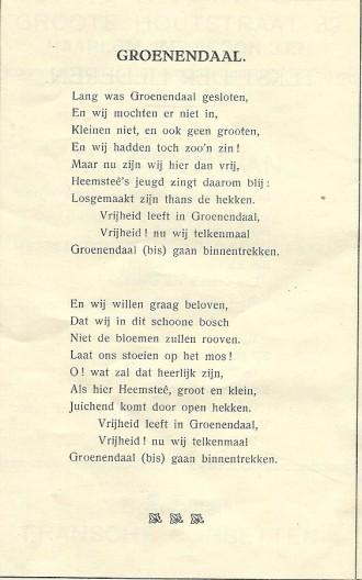 Lofdicht op Groenendaal uit 1913
