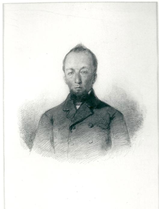 Burgemeester de Moraaz Imans, getekend door Anton Mauve