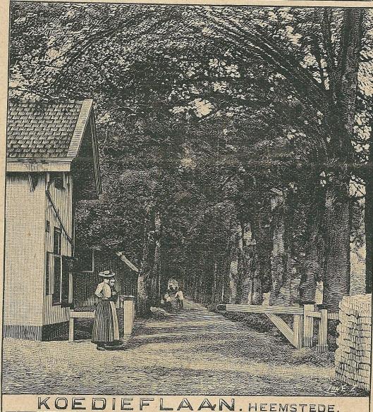 Koedieflaan met tol, Heemstede. Zondagsblad, 24 mei 1909
