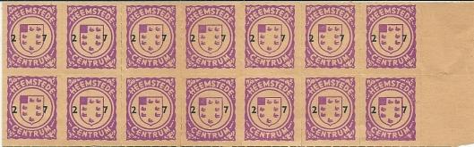 In het verleden gebruikte spaarzegeltjes van winkelcentrum Heemstede