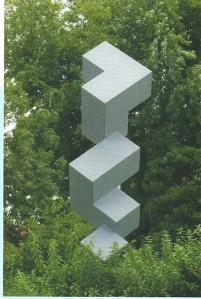 Sculptuur van Eril van Spronsen (1987), locatie rontonde Bronsteeweg/Adrian Pauwlaan. Met het kunstwerk wordt de draaiende beweging van het verkeer op de rotonde uitgebeeld