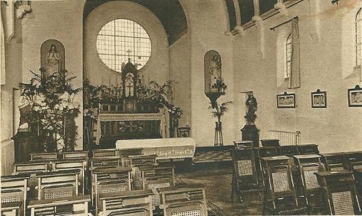 De vm. kleine kapel van de zusters destijds werkzaam voor kleinseminarie Hageveld Heemstede