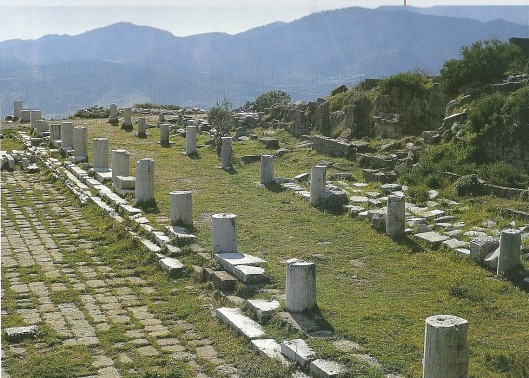 Pergamon: resten van de bibliotheek. Foto Dora Minaidi. Uit: K.S.Staikos. The history of the library in Western civilization, I, 2004, p. 251.