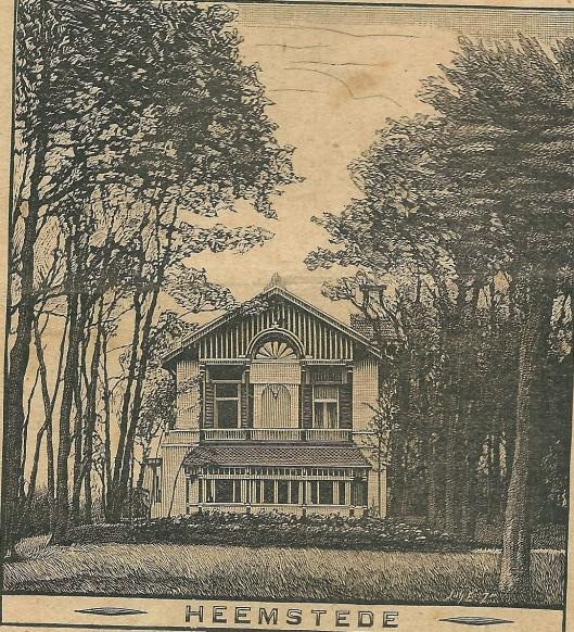 Villa 't Clooster Heemstede. Zondagsblad, 10 juni 1907