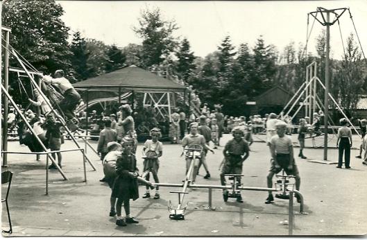Kaart uit 1967 van de kinderspeeltuin