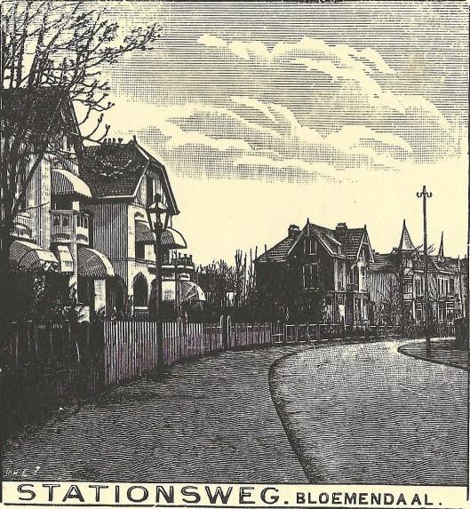 Stationsweg Bloemendaal. Zondagsblad, 1909