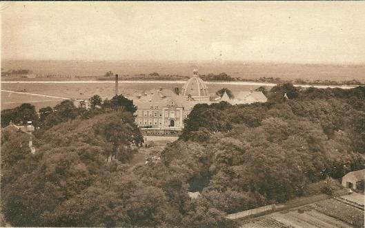 Seminarie Hageveld Heemstede in vogelvlucht omstreeks 1928