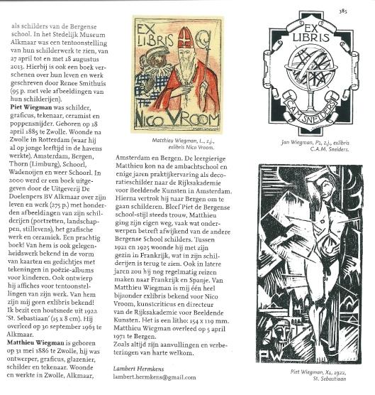 Exlibris Jan, Piet en Matthieu Wiegman, blz. 385 (2 en slot)