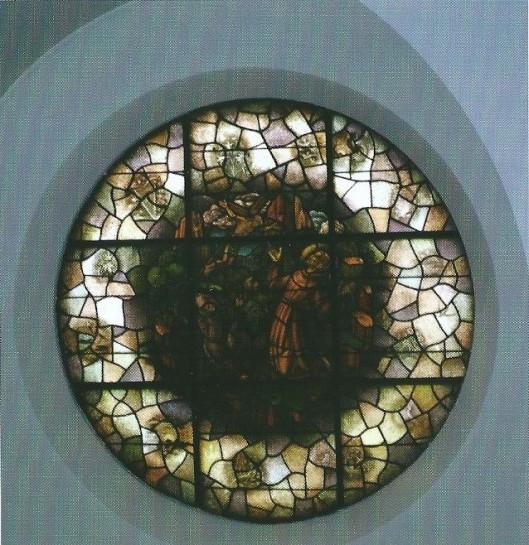 Het Sint Franciscusraam in de zusterkapel van Hageveld