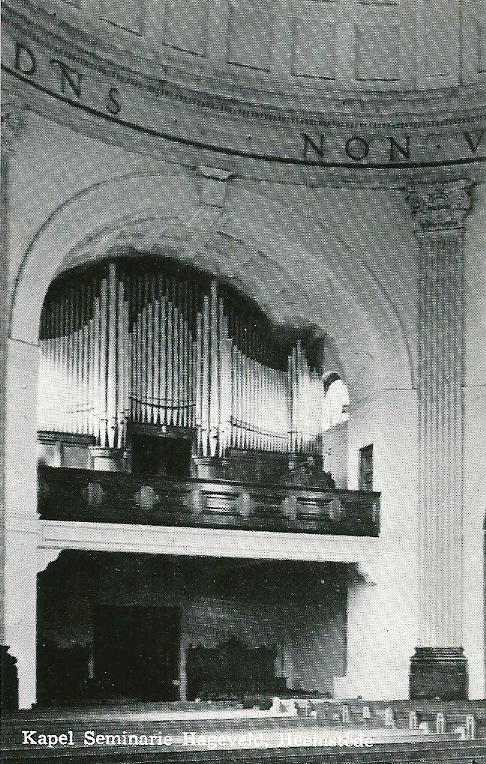 Het orgel in de kapel van seminarie Hageveld