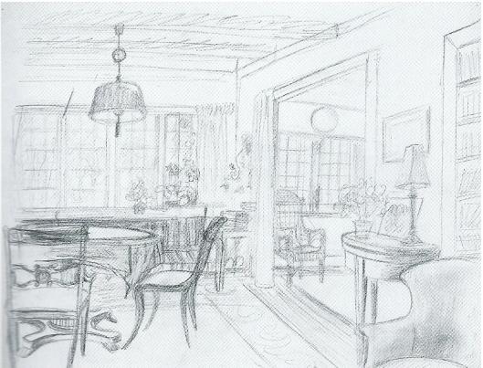 Woon- en werkkamer door M.Gude