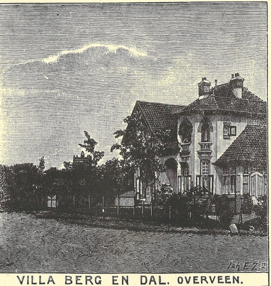 Villa Berg en Dal, Overveen. Zondagsblad, 1909