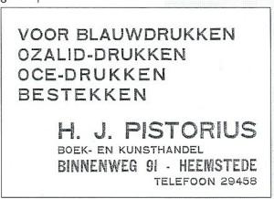Advertentie uit de Heemsteedse Courant van 1934