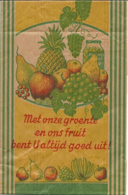 Verpakking met rijm van een Heemsteedse groenteman