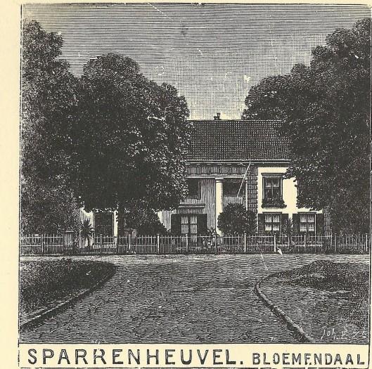 Sparrenheuvel, Bloemendaal. Zondagsblad, 1909