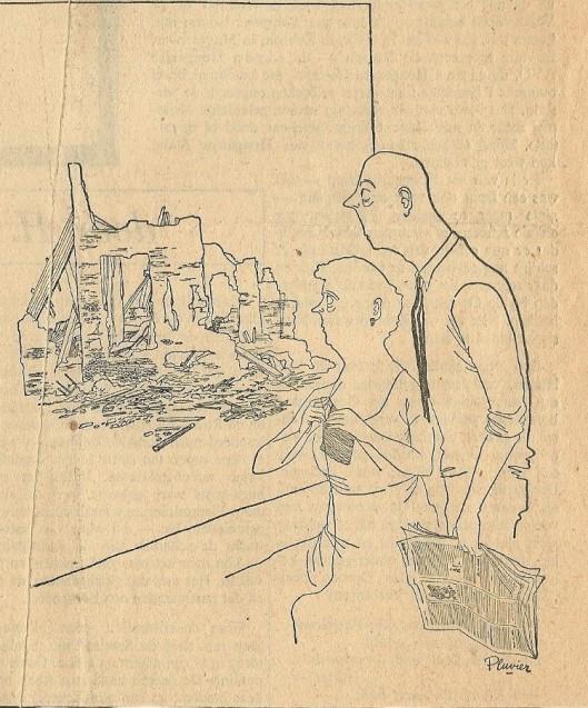 Illustratie door Pluvier bij een artikel van Godfried Bomans: 'Het Nationaal Schandaal ' uit Elseviers Weekblad
