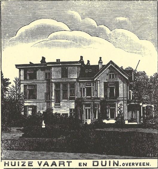 Huize Vaart en Duin, Overveen. Zondagsblad, 1909