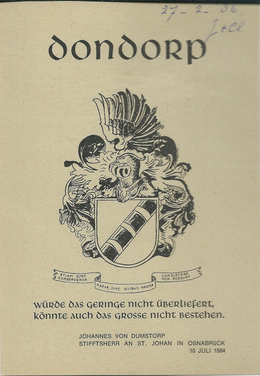 Exlibris van J.P.Dondorp, gereformeerd predikant. Geboren in Heemstede 12 juli 1940, overleden op 16 juli 2004.