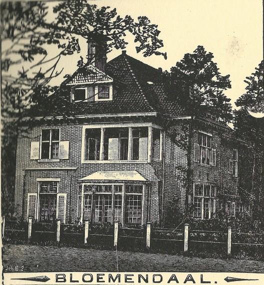 Villa in Bloemendaal. Zondagsblad, 1909