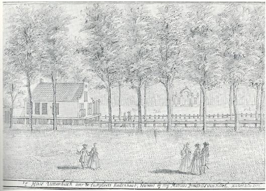 De buitenplaats Uit den Bosch ofwel Uitenbosch, in 1727 door Hendrik de Leth getekend. Tot 1711 was hier de herberg Bethlehem/het Vosje.