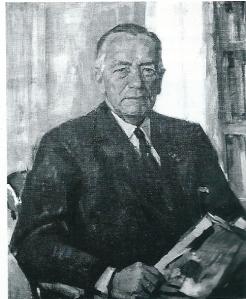 Olieverfdoek van B.F.Enschedé door Sierk Schröder