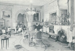 Salon in vm. Huis te Bennebroek