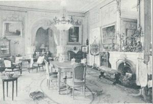 Salon in vm. Huis te Bennebroek