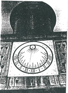 Zonnewijzer Mariënheuvel na restauratie 1988