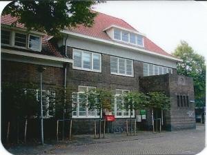 Recente foto van telefooncentrale Raadhuisstraat/hoek Postlaan