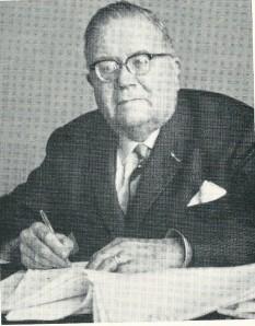 Mr. E.L.H.M.van Mierlo, van 1946 tot 1965 burgemeester van Gilze en Rijen