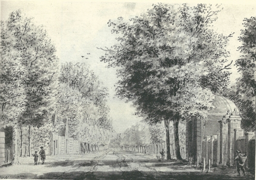 'De hofstede Bosch en Vaart aan de Heerenweg te Heemstede ' Aquarel uit 1764 van Cornelis van Noorde (1731-1795)