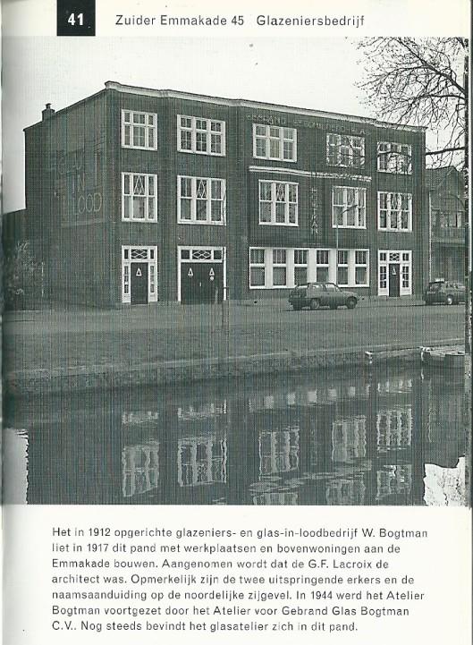 Glazeniersbedrijf Bogtman. Uit: Gids voor industriële monumenten. 1996.