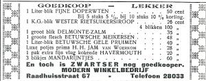 Advertentie Van Zwarter (niet Zwartser) uit de Heemsteder van 1934