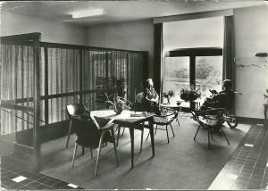 Interieurfoto van Bosbeek als verzorgings- en verpleeghuis van Zusters van de Voorzieningheid, Glipper Dreef 209
