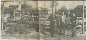 De directieleden S.C. van Lent, S.A.C. van Lent en E.van Lent bij de hoofdvestiging an het bedrijf Van Lent Opel aan de Heemsteedse Dreef in maart 1982, toen het bedrijf 75 jaar bestond en met 4 vestigingen 75 personeelsleden.