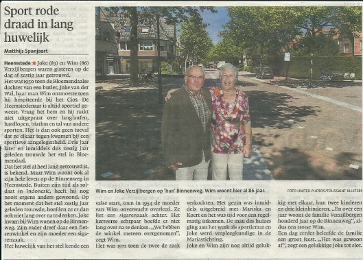 Wim Verzijlbergen al 86 jaar woonachtig aan de Binnenweg