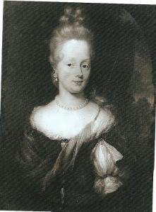 Portret uit 1677 van Elizabeth Tiellens (1632-1724) door Nicolaes Maes