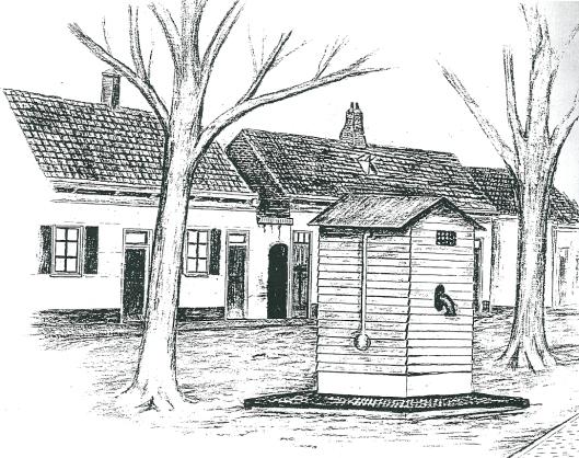 Na een tyfusepidenie in de Molenwerfsbuurt zijn omstreeks 1900 drie openbare Norton-waterpompen aangelegd, in de Molenwerf, op de Glip en Binnenweg op het Pleintje [van latere Raadhuisstraat] nabij de IJzeren Brug. In 1909 heeft de gemeente Heemstede een overeenkomst gesloten met de Amsterdamse Waterleiding en met de oprichting van een eigen gemeentelijk (duin)waterleidingbedrijf. De drie openbare tappunten zijn daarmee overbodig geworden en in 1919 opgeruimd. Een krijttekening van de waterpomp met houten ombouw  in de Raadhuisstraat bleef bewaard,