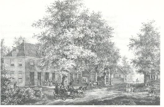 De Geleerde Man. Steendruk van P.J.Lutgers, circa 1842