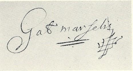 Handtekening van Gabriel Marcelis