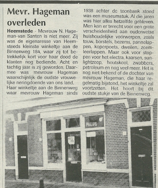 Bericht uit de Heemsteder van 26 oktober 1994