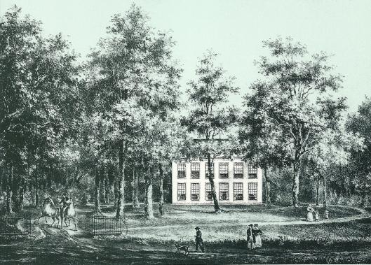 Het Huis te Bennebroek, getekend door P.J.Lutgers omstreeks 1840
