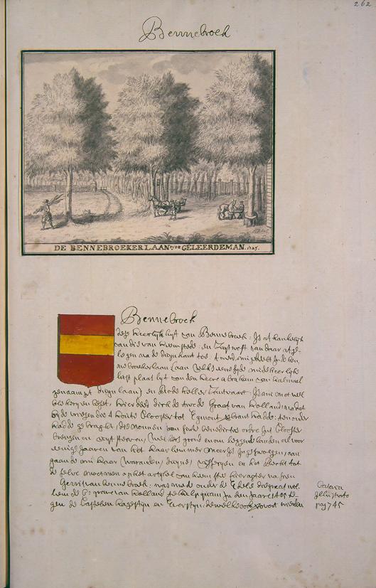 Andries Schoemaker (atlas): De Bennebroekerlaan bij de Geleerde Man. 1725 (Koninklijke Bibliotheek Den Haag)